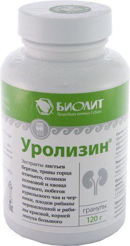 Напиток чайный гранулированный «Уролизин». Помощь почкам, Биолит,120 г