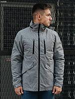 Осенняя мужская серая ветровка, куртка Staf point gray