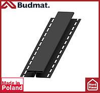 H-планка Budmat ( черный ). Планка соединительная будмат 3 м.