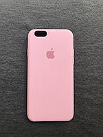 Силиконовый чехол Apple Silicone розовый  iPhone 6/6s Soft touch pink Люкс качество чехлы на айфон