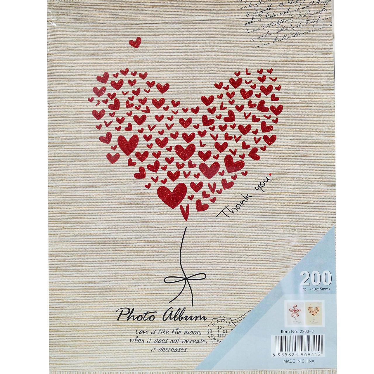 """Фотоальбом """"LOVE"""" Місце для запису, подарункова коробка 200/10х15см."""