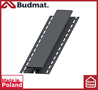 H-планка Budmat ( графит ). Планка соединительная будмат 3 м.