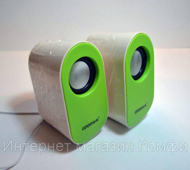 🔥✅ Колонки компьютерные Q6 USB 2.0 // Q6 USB 2.0 206, мини динамики, Green