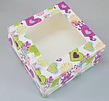 Коробка для пакування капкейків з віконцем 170*170*90, фото 2