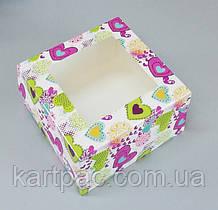 Упаковка с окошком для капкейков 170*170*90