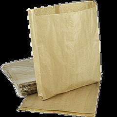 Пакет бумажный 340х250х60мм (ВхШхГ) 40г/м² 100шт (753) Крафт