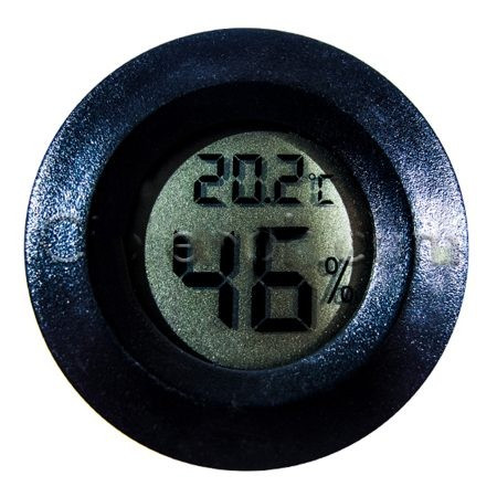 Цифровой термометр-гигрометр с внутренним датчиком (круглый)