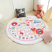 """Безкоштовна доставка! Ігровий килим-мішок """"Рожевий лабіринт"""""""
