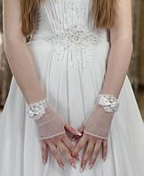 Свадебные коротенькие перчатки (П-к-59)