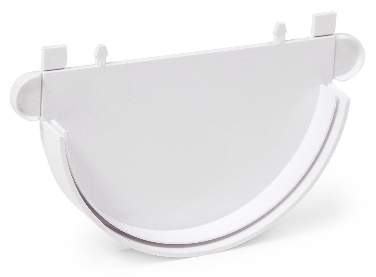 Заглушка Fitt желоба 125 мм, цвет белый