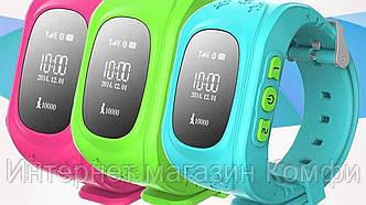 🔥✅ Умные детские часы Smart Baby Watch Excelvan Q50 с функцией GPS трекера и телефона 3 цвета