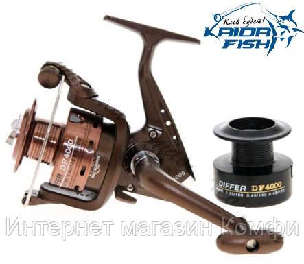 🔥✅ Рыболовная катушка Kaida DF 2000 с четырьмя подшипниками