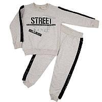 Костюм для девочки 92-110(2-5лет) кофта и штаны, арт.02076