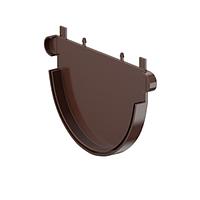 Заглушка Fitt жолоба 125 мм, колір коричневий