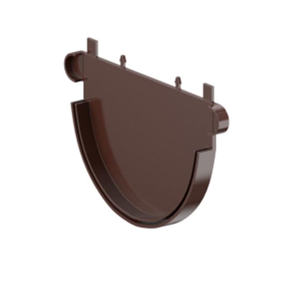 Заглушка Fitt желоба 125 мм, цвет коричневый