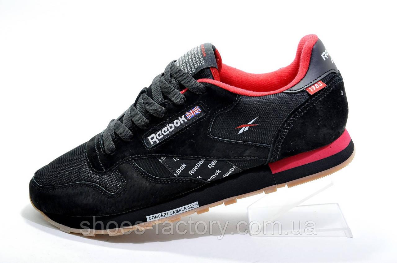 Кроссовки мужские в стиле Reebok Classic Leather since 1983, Black\Red
