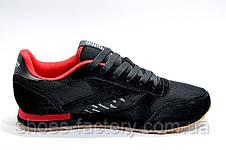 Кроссовки мужские в стиле Reebok Classic Leather since 1983, Black\Red, фото 3