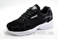 Женские кроссовки в стиле Adidas Falcon W Black\White, фото 2