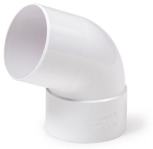 Колено Fitt 67° для трубы 80 мм, цвет белый