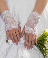Свадебные коротенькие перчатки (П-к-62)