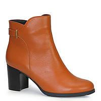 Женские кожаные ботинки TIFFANY на среднем каблуке со вставкой из кожи, замша