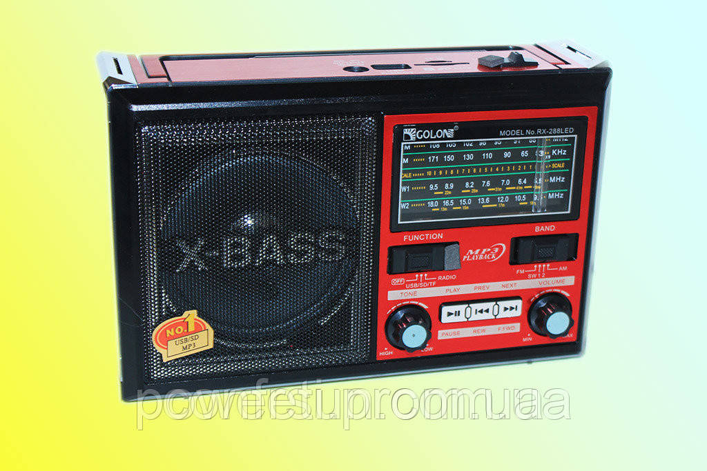 🔥✅ Радиоприемник Golon RX-288+LED с фонариком