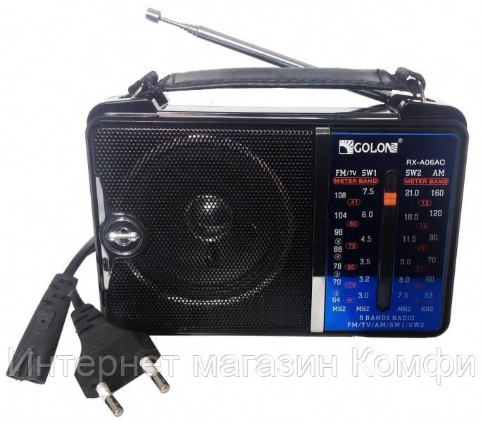 🔥✅ Переносной радиоприемник Golon RX-A06AC радио