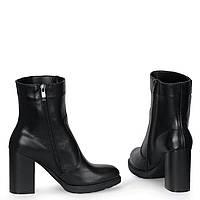 Женские кожаные замшевые ботинки полуботинки TIFFANY на каблуке