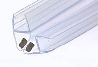 KLC-03-06-00 Душевой уплотнитель под стекло 8 мм, гол 90 и 180 градусов, длинной 2200 мм