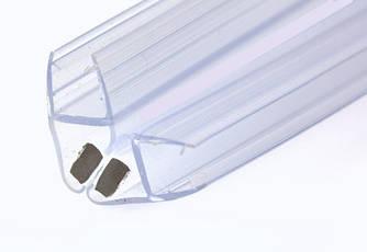 KLC-03-06-00 Душовий ущільнювач під скло 8 мм, гол 90 і 180 градусів, довжиною 2200 мм