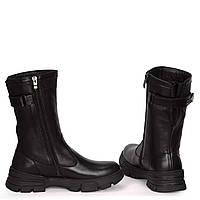 Жіночі замшеві черевики шкіряні напівчеревики напівчоботи чоботи TIFFANY на низькому каблуці платформі з клапаном