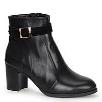Женские кожаные замшевые ботинки полуботинки полусапоги сапоги TIFFANY на каблуке