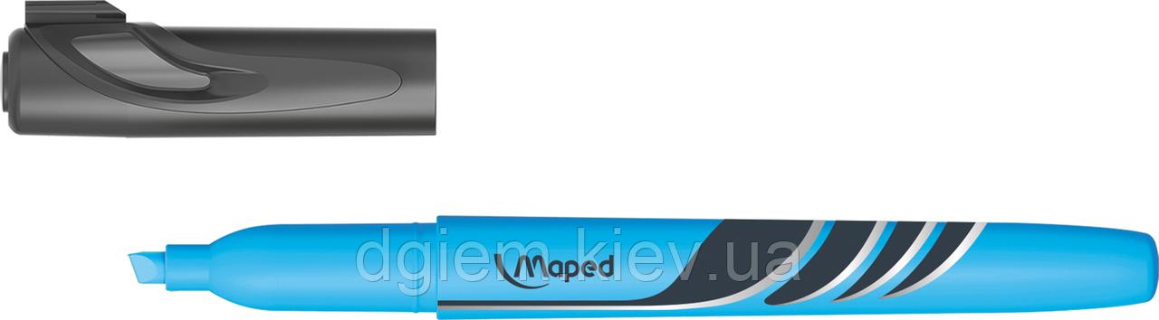 Текст-маркер FLUO PEPS Pen голубой Maped