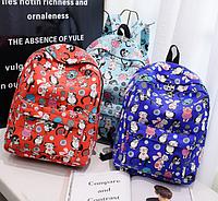 Стильный женский рюкзак Кошечки Школьный городской