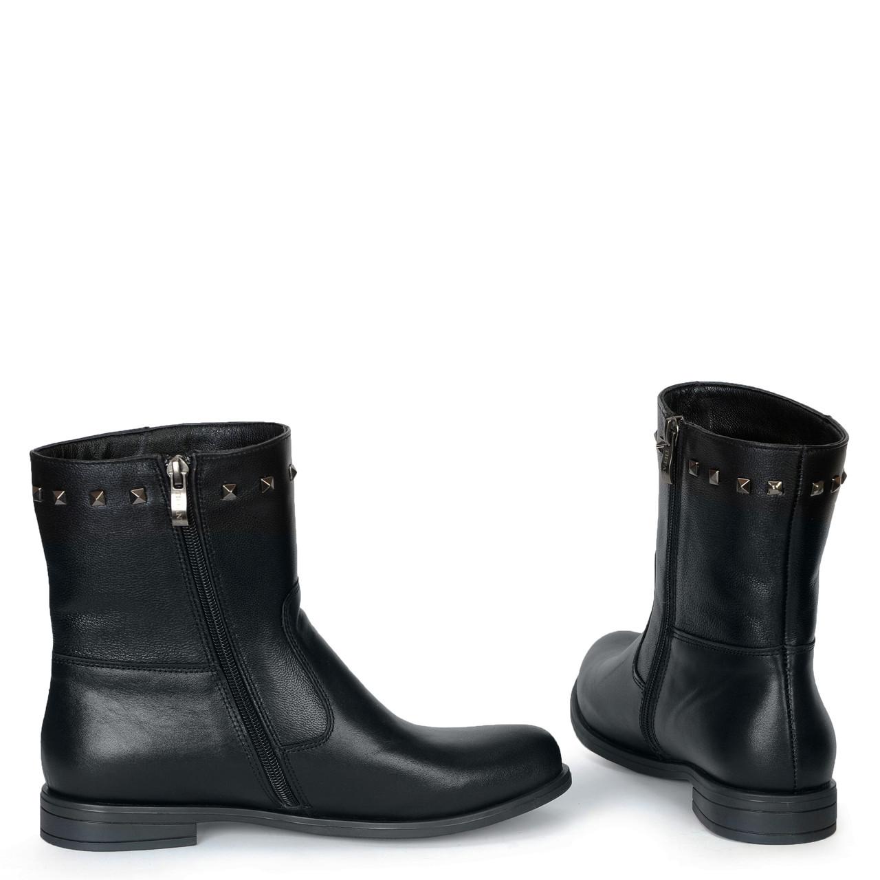Жіночі замшеві черевики шкіряні напівчеревики TIFFANY на низькому каблуці з ремінцем