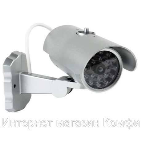 🔥✅ Муляж камеры наблюдения PT-1900 двигающийся с датчиком, Видео камера обманка, видеокамера