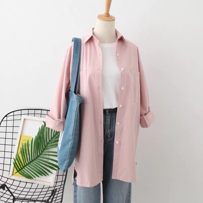 Натуральная женская рубашка (в расцветках)