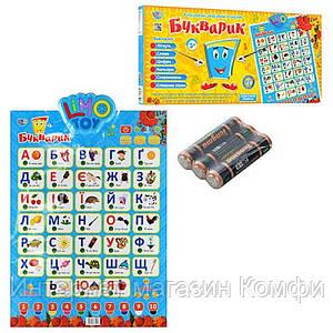🔥✅ Интерактивный Плакат Букварик 7031, говорящая азбука на украинском языке Joy Toy 7031