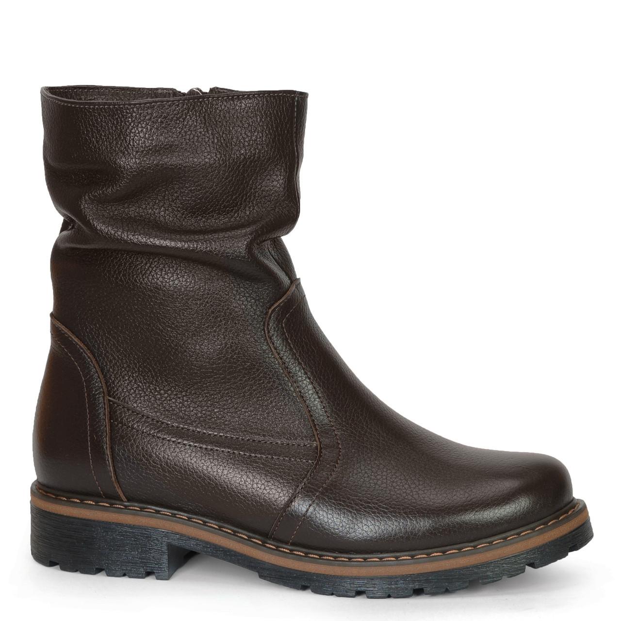 Женские кожаные замшевые ботинки полуботинки полусапоги сапоги TIFFANY на каблуке платформе Мех зима ПШ