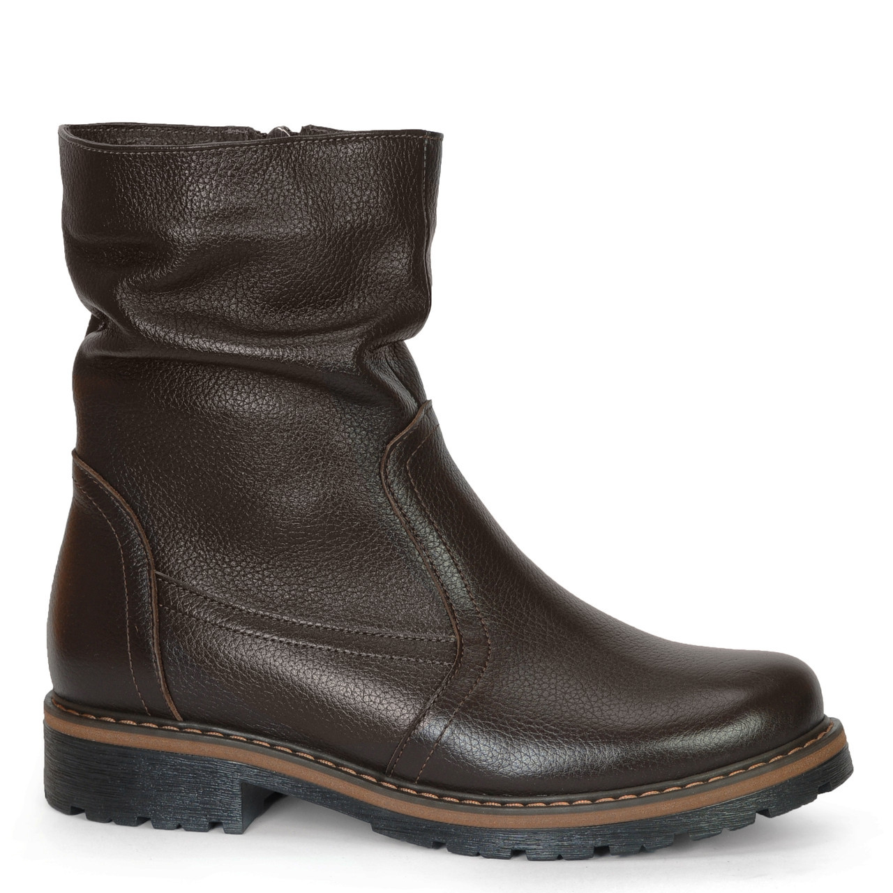 Жіночі замшеві черевики шкіряні напівчеревики напівчоботи чоботи TIFFANY на підборах платформі Хутро зима ПШ