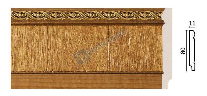 Плинтус напольный Арт-Багет  144-4,интерьерный декор