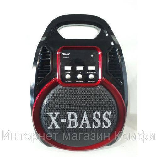 🔥✅ Беспроводная Bluetooth колонка X-BASS Golon RX-820BT со цветомузыкой и микрофоном