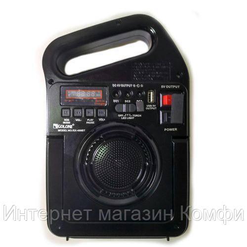 🔥✅ Портативная радио MP3 колонка - фонарь Golon RX-499BT c Power Bank и солнечной панелью