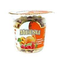 Мюсли с абрикосом, клубникой и малиной, 100 г