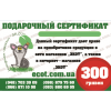 Подарочный сертификат ЭКОТ на сумму 300 грн
