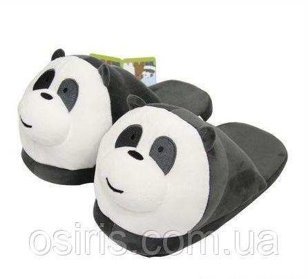 Тапочки домашние Панда взрослые / тапки комнатные плюшевые  35-41 размер