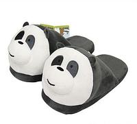 Тапочки домашние Панда взрослые / тапки комнатные плюшевые  35-41 размер, фото 1