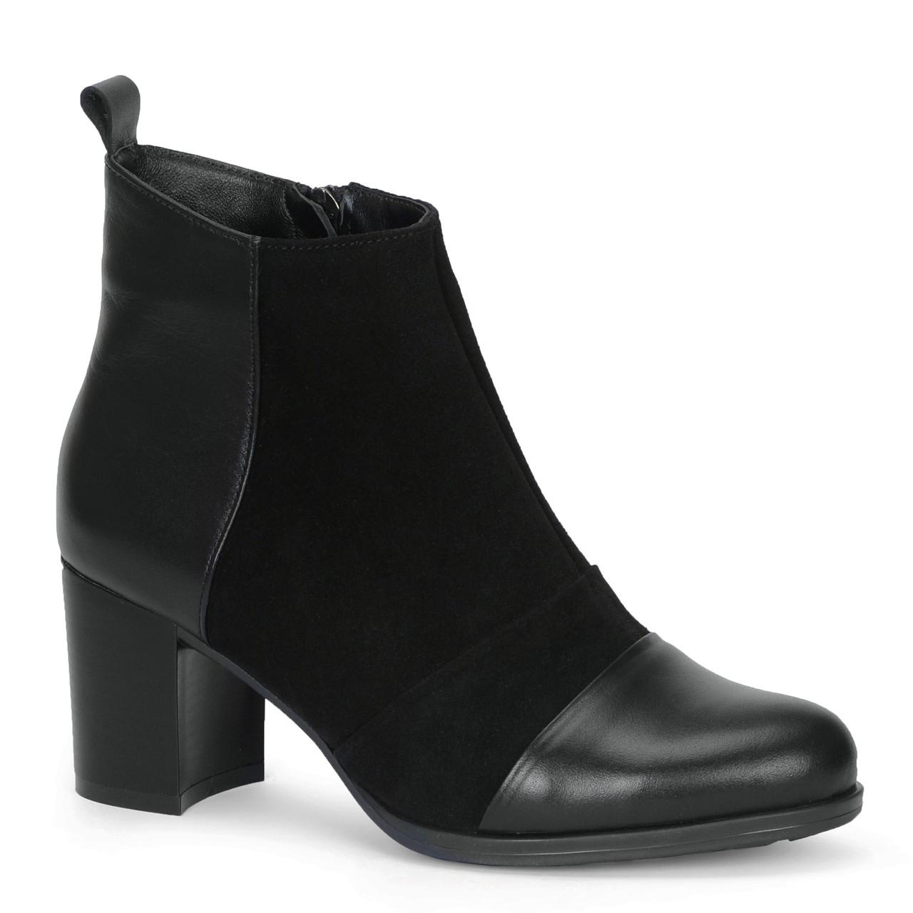 Женские кожаные ботинки TIFFANY на среднем каблуке с ремешком
