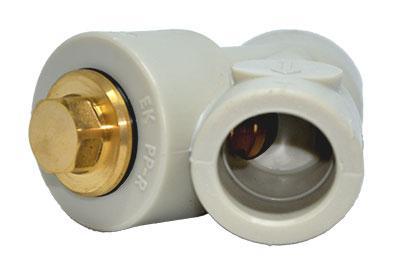 Обратный клапан ППР для одного направления движения теплоносителя