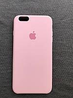 Силиконовый чехол Apple Silicone розовый  iPhone 6+ / 6s plus Soft touch pink Люкс качество чехлы на айфон